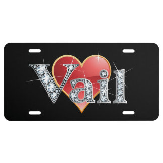 """Vail Faux-""""Diamond"""" Bling License Plate"""