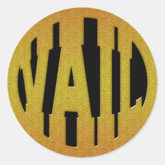 VAIL - GOLD CLASSIC ROUND STICKER