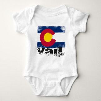 Vail Grunge Flag Baby Bodysuit