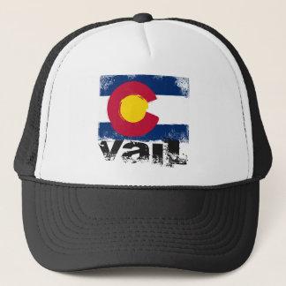 Vail Grunge Flag Trucker Hat