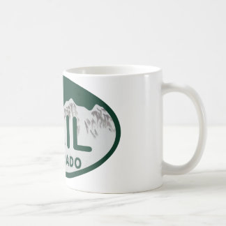 Vail license oval coffee mug