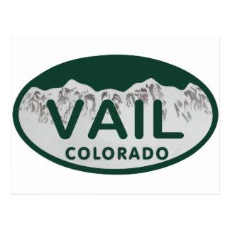 Vail license oval postcards