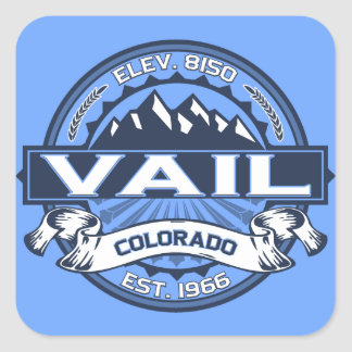 Vail Logo Blue Square Sticker