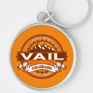 Vail Logo Tangerine Keychain
