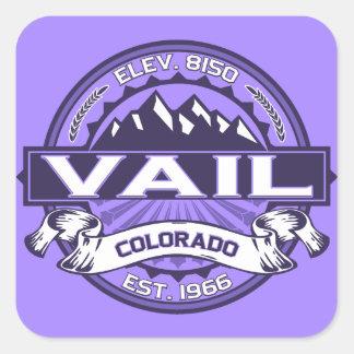 Vail Logo Violet Square Sticker