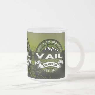 Vail Olive Logo Frosted Glass Coffee Mug