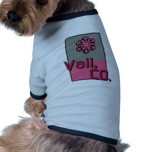 Vail rosado Colorado Camiseta De Mascota