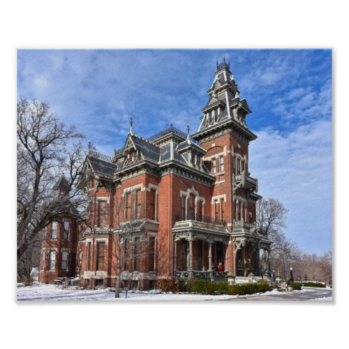 Vaile Mansion, Independence, Missouri, in Snow Poster
