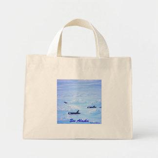 Vaina de la ballena en masa de hielo flotante de h bolsa de tela pequeña