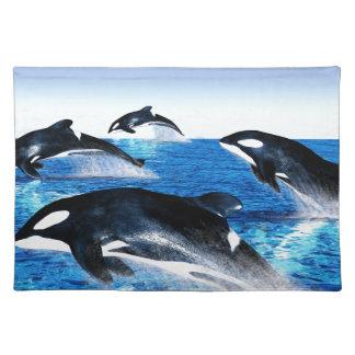 Vaina de la orca manteles individuales