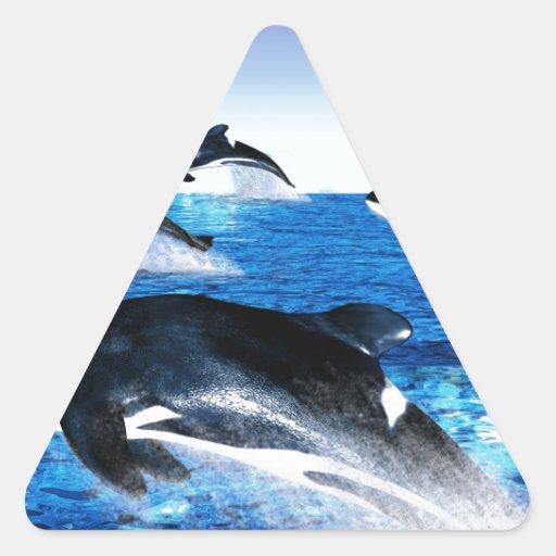 Vaina de la orca calcomanía de trianguladas