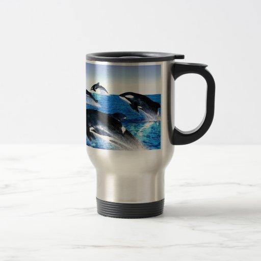 Vaina de la orca taza de viaje