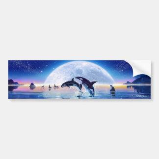 Vaina de orcas pegatina de parachoque