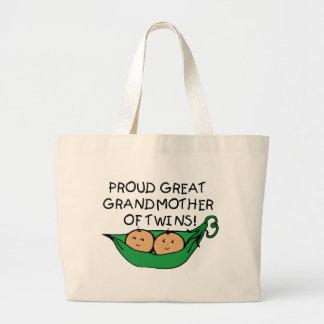 vaina orgullosa del gemelo de la bisabuela bolsa tela grande