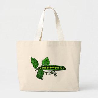 Vainas de guisante verde del jardín bolsas lienzo