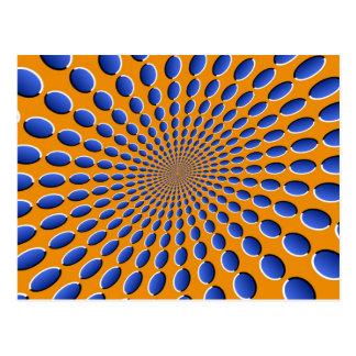 Vainas de la ilusión óptica tarjeta postal