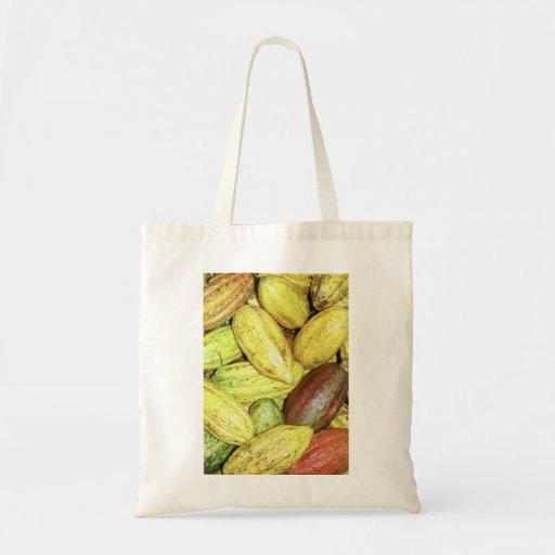 Vainas del cacao bolsa tela barata