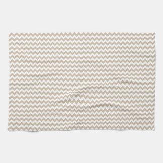 Vainilla blanca y oscura del zigzag - toalla de mano