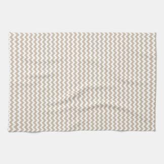 Vainilla blanca y oscura del zigzag - toalla