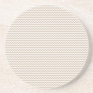 Vainilla blanca y oscura del zigzag - posavasos diseño