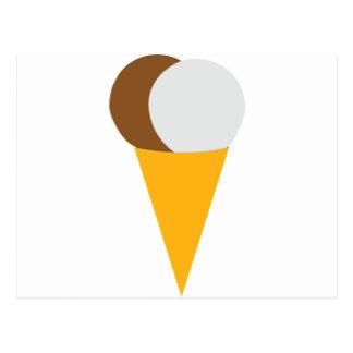 Vainilla del chocolate del cono de helado tarjeta postal