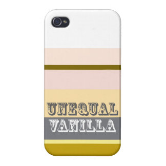 """Vainilla desigual "" iPhone 4/4S Fundas"