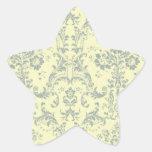 Vainilla y damasco azul colcomanias forma de estrellas