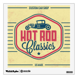 Vaintage Hot Rod Wall decal