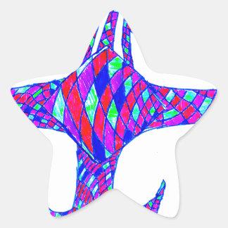Vajra Psychedelic Star Sticker