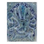 Vajrapani Blue Postcard