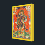 "Vajrapani Canvas Print<br><div class=""desc"">Wrapped canvas print of an image of Vajrapani, protector and guide of the Buddha, who rose to symbolize the Buddha&#39;s power. Vajrapani was used extensively in Buddhist iconography as one of the three protective deities surrounding the Buddha. See matching poster. See the entire Bali Retreat Canvas Print collection in the...</div>"