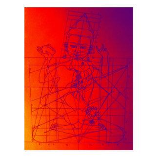 Vajrasattva and Consort Sketch Postcard