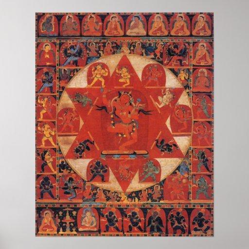 Vajravarahi Mandala Print