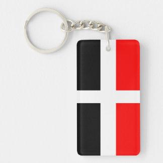 Val d'Aosta independence flag Single-Sided Rectangular Acrylic Keychain