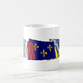 Val-de-Marne, Île-de-France & France flags Coffee Mug