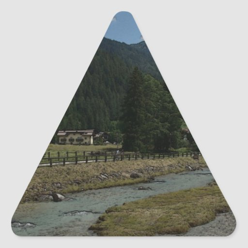 Val di Fassa Calcomania Triangulo