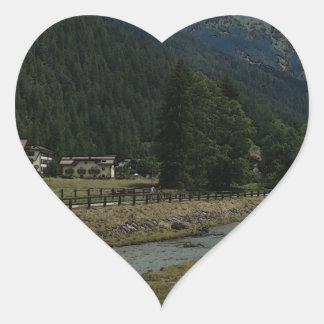 Val di Fassa Heart Sticker