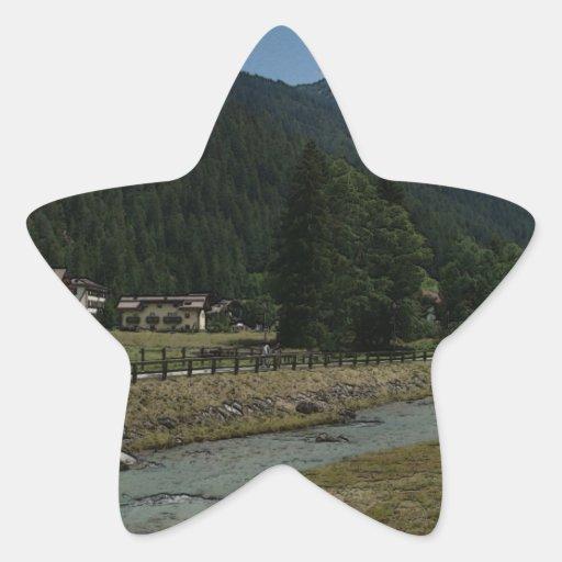 Val di Fassa Pegatina En Forma De Estrella
