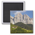 Val di Funes, Villnosstal, Dolomites, Italy 2 Inch Square Magnet