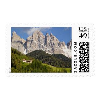 Val di Funes, Villnosstal, Dolomites, Italy Postage Stamp