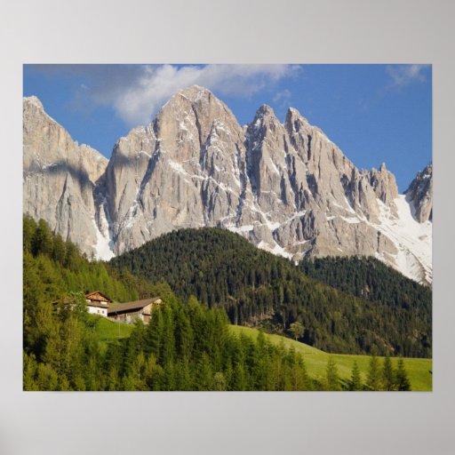 Val di Funes, Villnosstal, Dolomites, Italy Poster