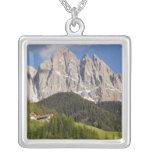 Val di Funes, Villnosstal, Dolomites, Italy Square Pendant Necklace