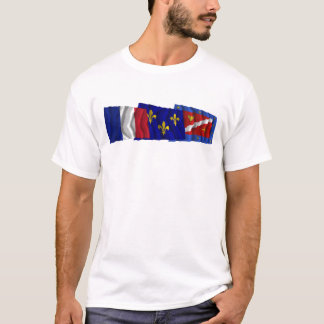 Val-d'Oise, Île-de-France & France flags T-Shirt