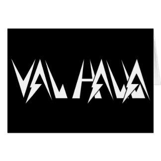 Val Halla FONT logo white on black Card