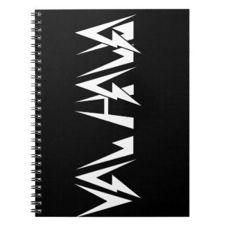 Val Halla FONT Logo White on black Notebook
