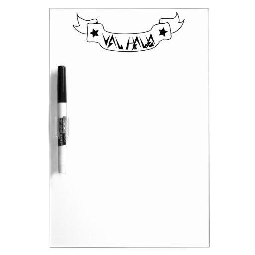 Val Halla White Board Dry Erase Board