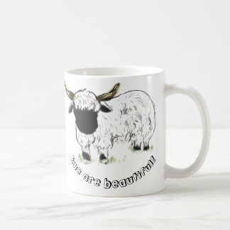 Valais Blacknose Sheep - Ewe are beautiful! Coffee Mugs