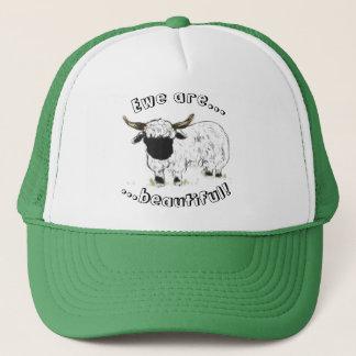Valais blacknose sheep - Ewe are beautiful! Trucker Hat