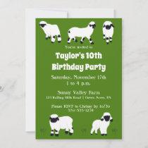 Valais Blacknose Sheep Farm Themed Party Invitation