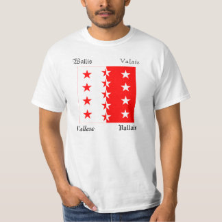 Valais Four Language Swiss Canton Flag Shirts